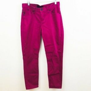 Rock & Republic Magenta Ankle Crop Skinny Jeans 8